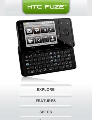 htc fuze mobile website
