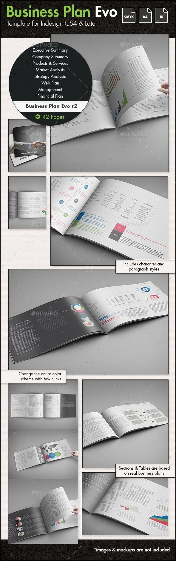 Business Plan Evolved r2 - A4 Landscape Template