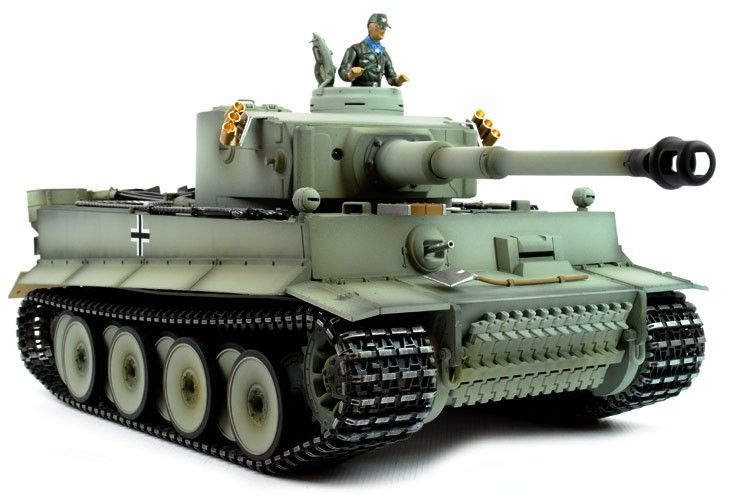 Taigen Hand Painted RC Tank Early Version Tiger I Grey Camo - Full Metal - 2.4GHz