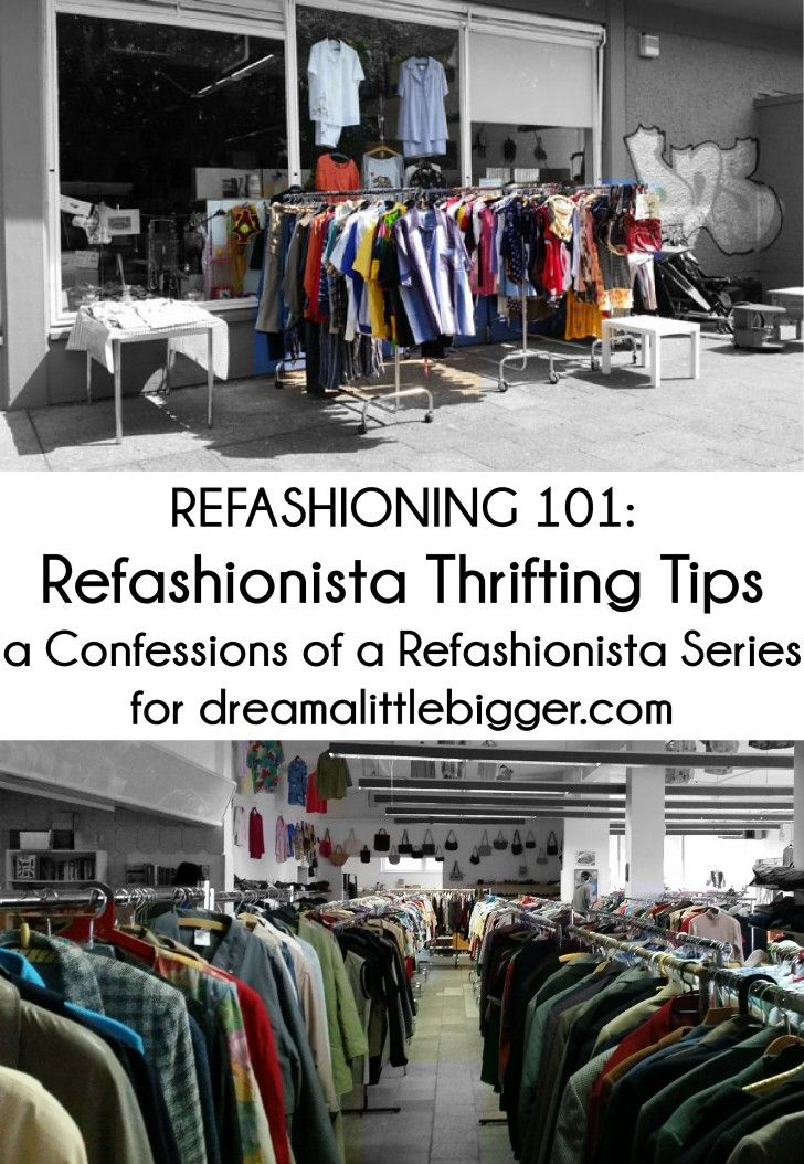 Discover refashioning treasures on your next thrifting trip with my Refashioning 101: Refashionista Thrifting Tips