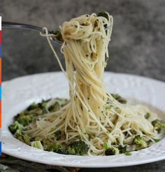 Angel Hair Pasta with Shallots, Garlic, Broccoli and Lemon   Cravings of a Lunatic #angelhair #pasta #ideas
