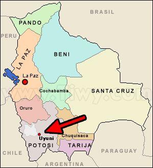 el salar bolivia mapa - Buscar con Google