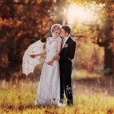 6 lenyűgöző esküvői fotó őszi színekben
