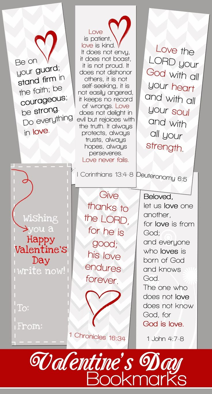 Valentine's Day Bookmarks from Mom and the Blonds