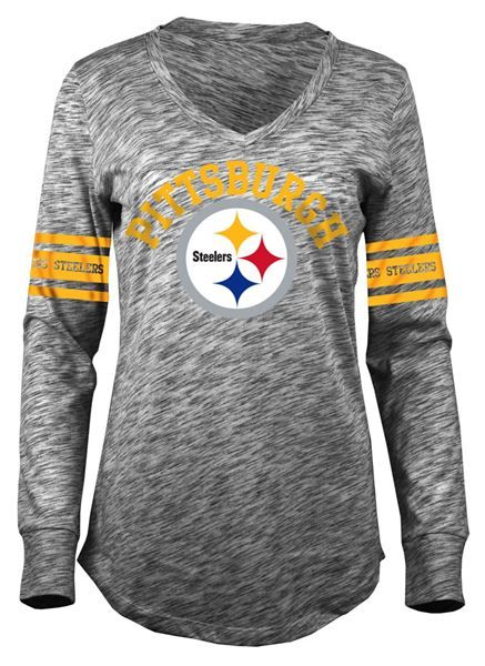 Picture of Pittsburgh Steelers Women's Fifth and Ocean Long Sleeve Slub T-Shirt