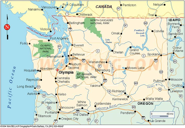 Washington State Map  Washington State Has Adopted A New