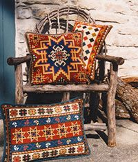 Zagros 01,Small Kilim and Kilim Back Pillow 01