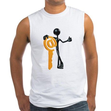 Man with a key - @! Tank Top on CafePress.com