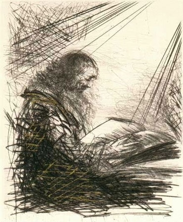 Faust (1969), by: Salvador DaliDali 1904, Salvador Dali, Men Reading, Art Portal, Reading Time, Faust 1969, Art Inspiration, Reading Faust, Salvador Dali