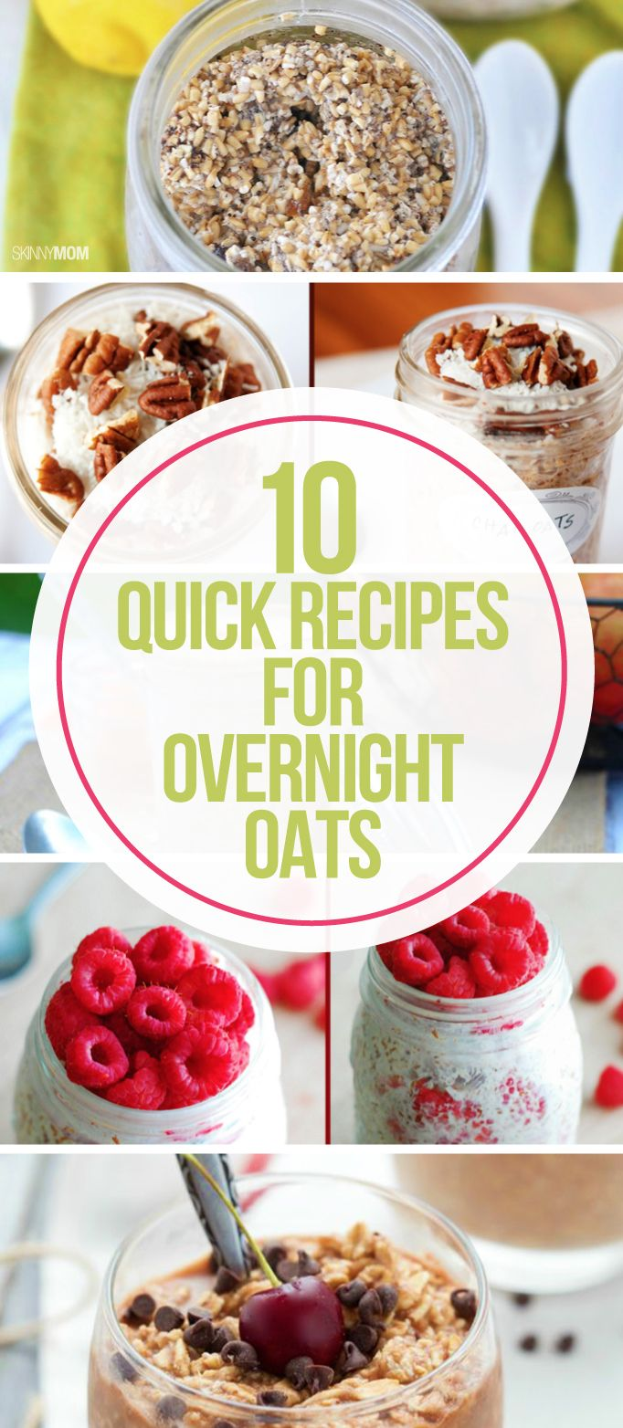 Looking for a quick healthy breakfast in the morning? Opt. for one of these overnight oat recipes!