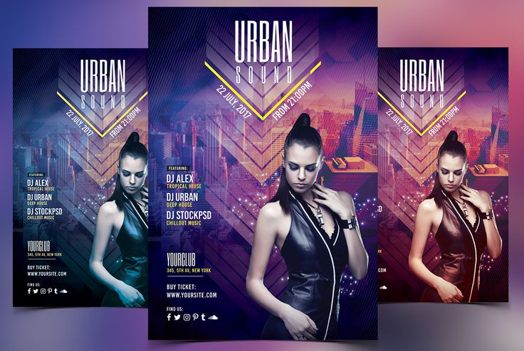 """Check out this @Behance project: """"Urban Sound - Free PSD Flyer Template"""" https://www.behance.net/gallery/47919569/Urban-Sound-Free-PSD-Flyer-Template"""