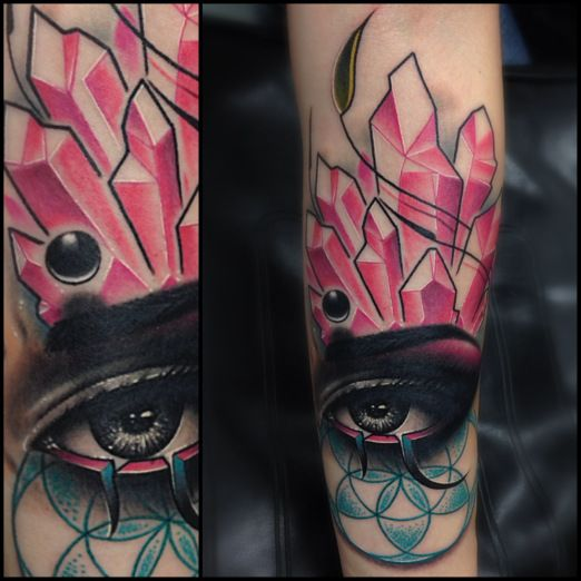 20 best images about zack singer tattoos on pinterest for Crystal eye tattoos