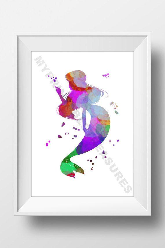 Little Mermaid Gift  Fairy Tale Nursery by MyPrintableTreasures