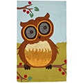 Shiny Eyes Owl Rug - hey, how many licks does it take to get to the middle of a Tootsie Roll Tootsie Pop?
