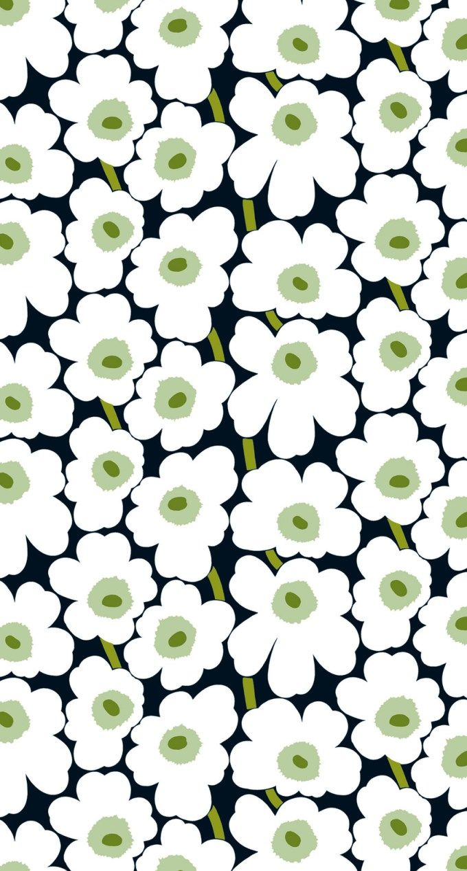 マリメッコ/ウニッコ04 iPhone壁紙 Wallpaper Backgrounds iPhone6/6S and Plus  Marimekko Unikko iPhone Wallpaper
