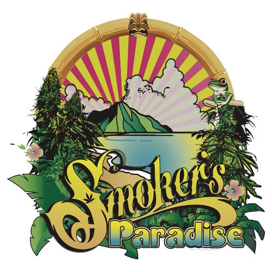Smokers paradise sticker by kushcoast