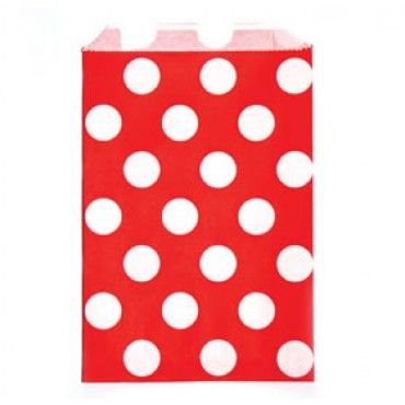Paper Lolly Bags Red Spot - Party Shop :: Big Dreams
