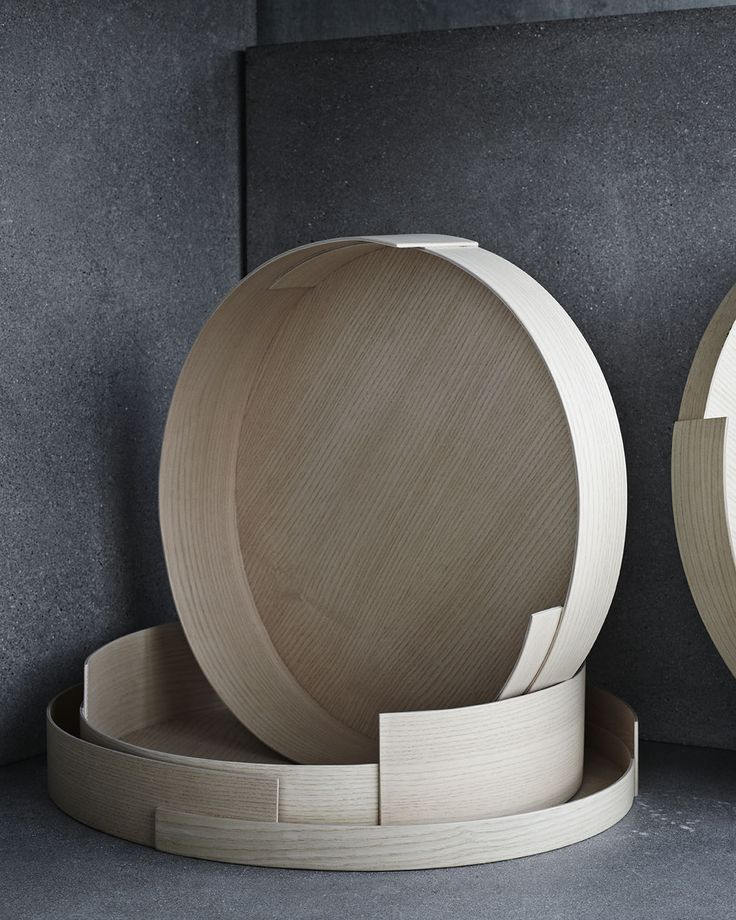 STACK TRAYS Inspired by traditional Nordic bentwood boxes and shaker living, STACK trays can be used individually being both structurally strong and delicate or they can be stacked together giving a sculptural look. Design by Wednesday Architecture for Fritz Hansen Objects - Photo by Fritz Hansen