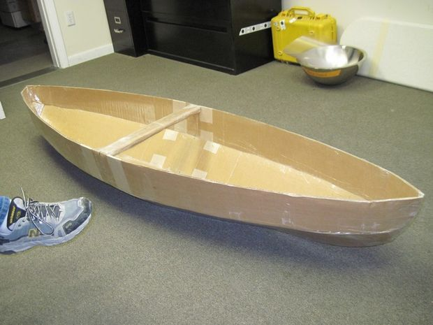how to make a boat out of cardboard | How to Make a Cardboard Canoe for your Kids in the Pool