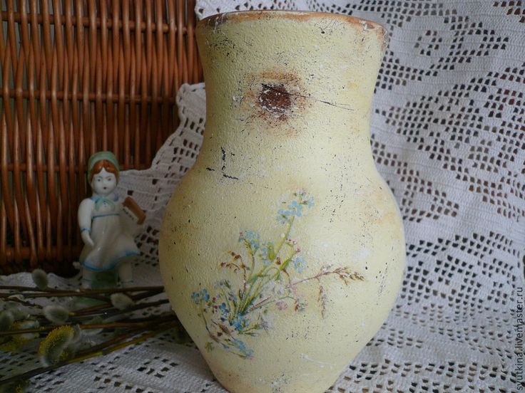 Купить Крынка Полевые букетики - крынка, подарок, для женщины, полевые цветы, Декупаж, для кухни, Бижутерия