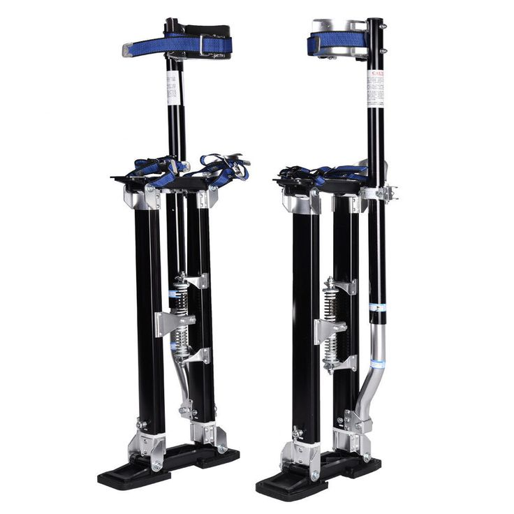18-30 Inch Drywall Stilts Aluminum Tool Painters Walking Taping Finishing Black