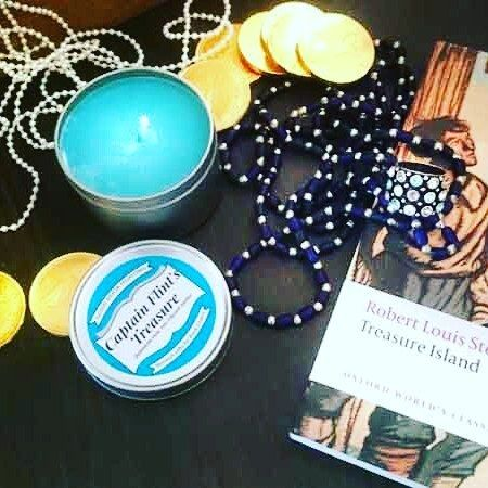 For all lovers of high adventure and pirate hi-jinks the November candle of the month is of course Captain Flint's Treasure a delicious combination of Jamaican Rum and juicy raisins.  We are also celebrating the birthday of Robert Louis Stevenson author of Treasure Island and creator of the character of Captain Flint himself!    #bookandcandle  #bookcandlefeature #bookish #bookishcandle  #booklovergift #bookloverscandles  #booknerd  #booknerdigans #bookscentedcandle #bookstagram…