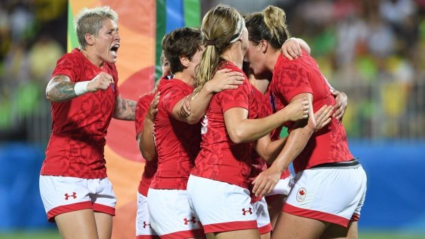 Canada has claimed the women's rugby sevens bronze medal at the Rio Olympics with a 33-10 win over Britain.