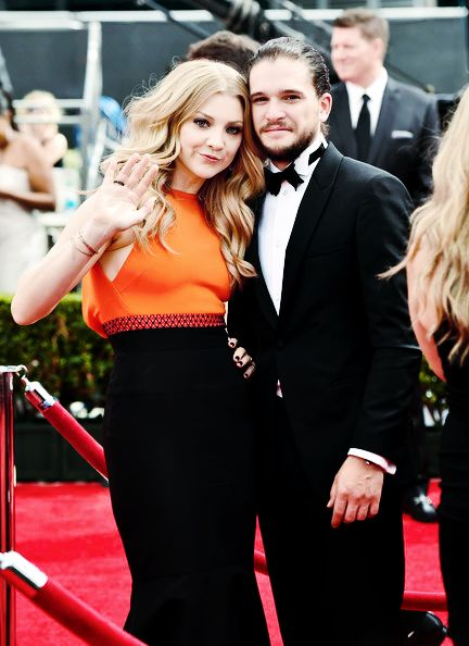 Natalie Dormer and Kit Harington attend the 66th Primetime Emmy Awards on August 25th, 2014
