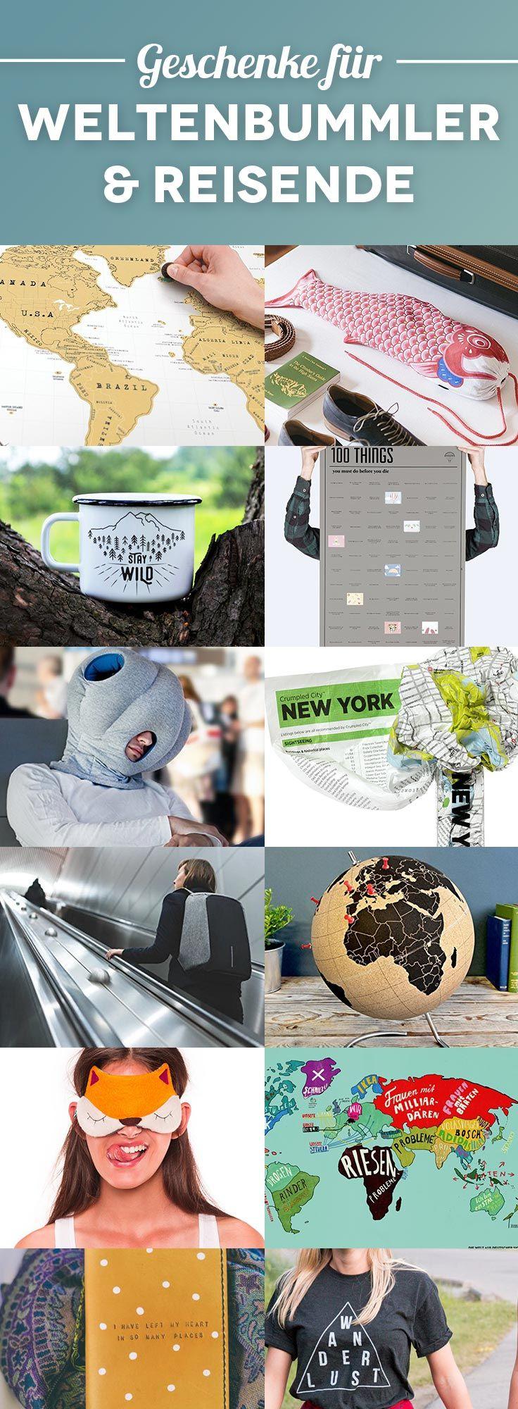 61 originelle, nützliche und coole Geschenke für Reisende – Geschenkideen für Weltenbummler & Weltreisende #geschenke #reiseideen #gadgets