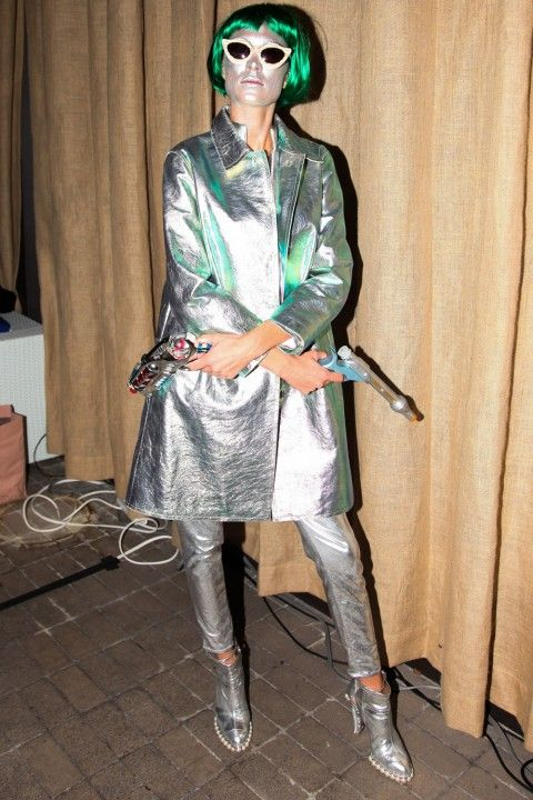 Alexa Chung In A Spacey Silver Outfit - Celebrity Halloween Costumes: 71 Spooky A-List Ideas To Inspire You