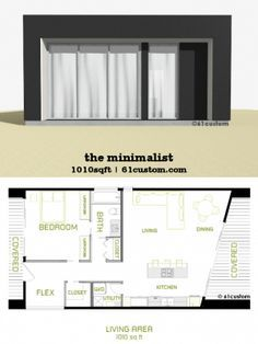 the minimalist: small modern house plan | 61custom