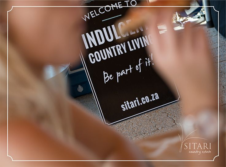 Welcome to indulgent country living. Be part of it...www.sitari.co.za