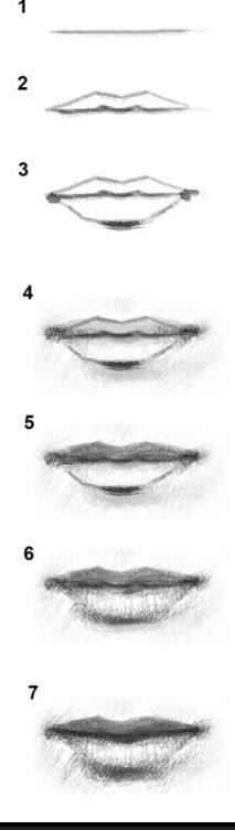 # how to draw a mouth