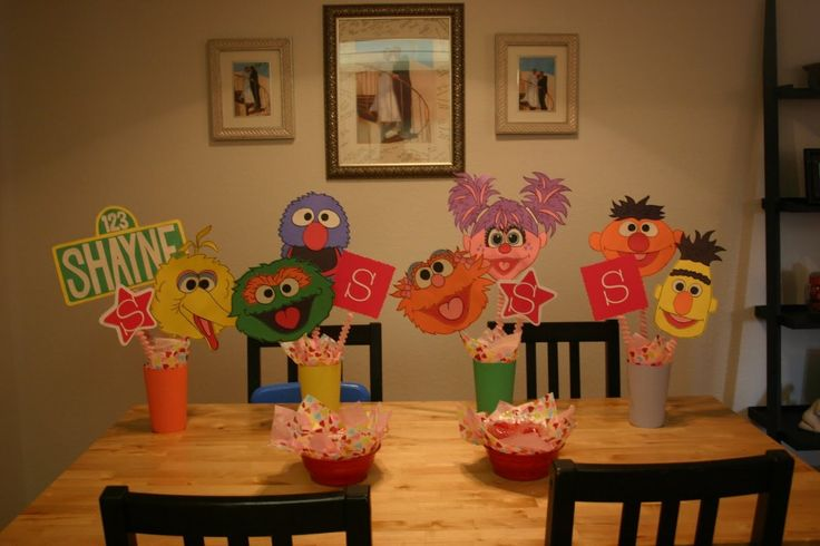 Party decorations ideas sesame street birthday party ideas for 2nd birthday party decoration