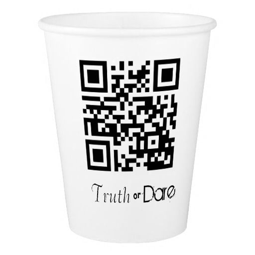 Truth or Dare QR Code Gaming cup Paper Cup