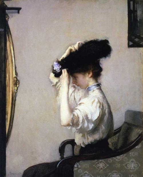 Preparing for the Matinee 1907  -   Edmund Tarbell (American, 1862-1938)