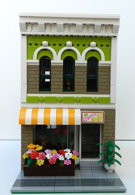 Florist shop. Like the colors and echoing arch design.
