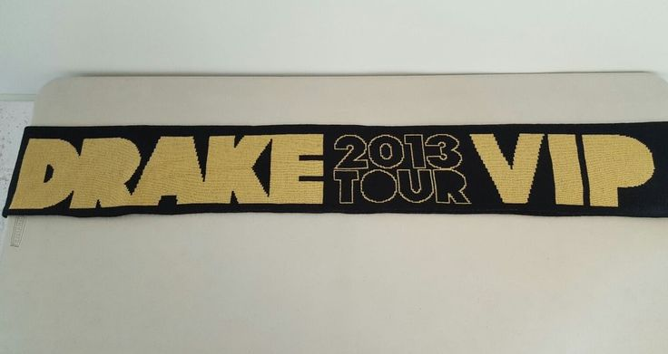 Drake TOUR 2013 VIP Concert Scarf  Hotline Bling Back To Back EUC | Entertainment Memorabilia, Music Memorabilia, Rock & Pop | eBay!