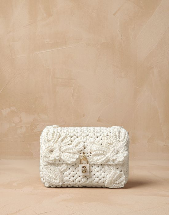 Raffia crochet flower dolce bag Women - Bags Women on Dolce&Gabbana Online Store United States - Dolce & Gabbana Group