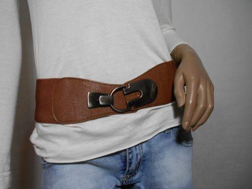 Cinturón elástico color camel
