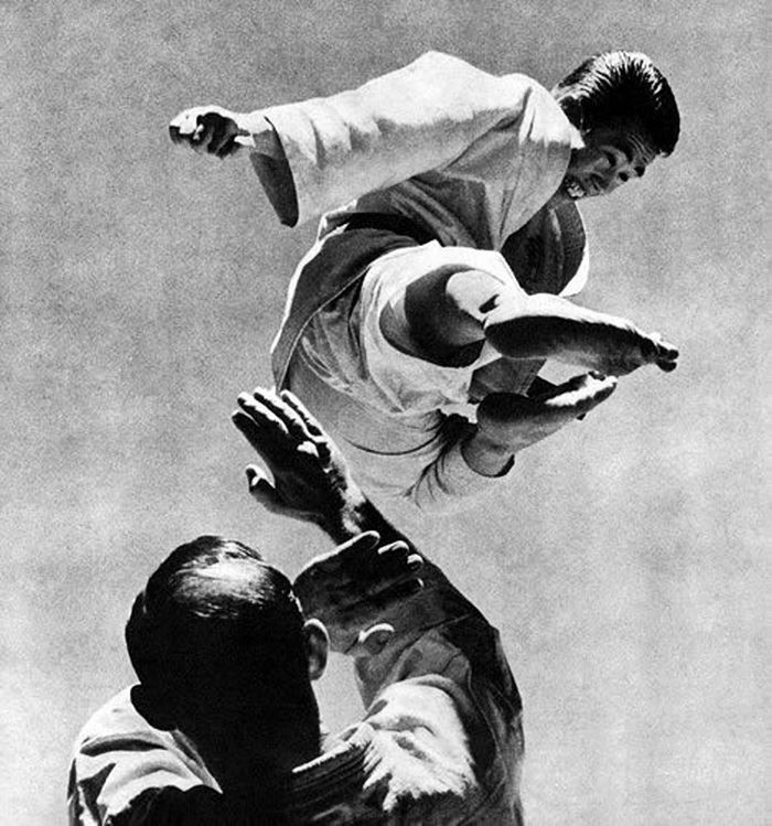 Tobi yoko geri / 飛び横蹴り / Flying side kick