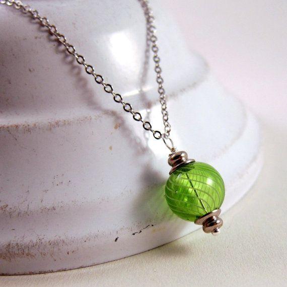 Grass green swirled hollow glass bead necklace by ShyofPerfectBeads Inspiration, Grass Green, Glasses Beads Necklaces, Swirls Hollow, Green Swirls, Green Lanterns, Lanterns Necklaces, Bead Necklaces, Hollow Glasses