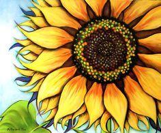 Ms de 25 ideas increbles sobre Pinturas girasol en Pinterest
