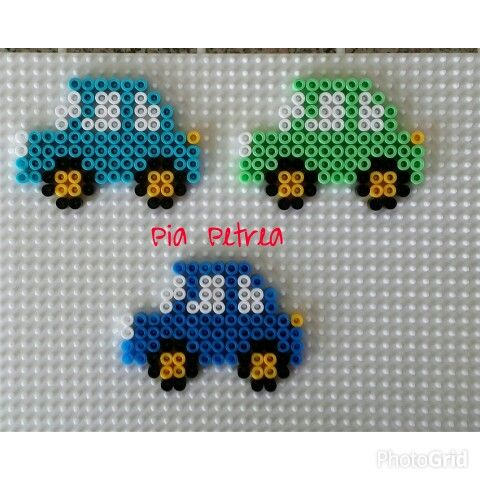 Cars hama beads by Pia Petrea