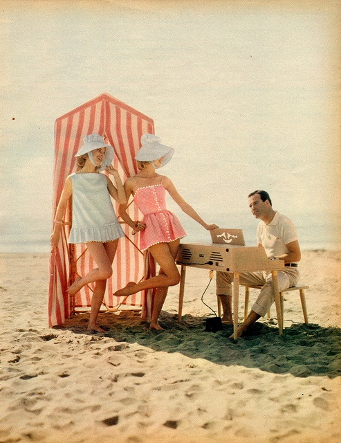 Jack Lemmon 1960 - beach wear