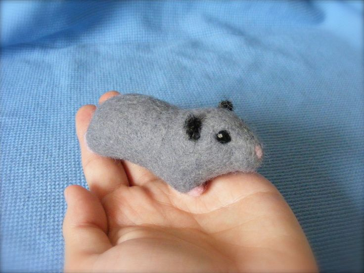 Needle Felted Dwarf Hamster FOR SALE by CVDart1990