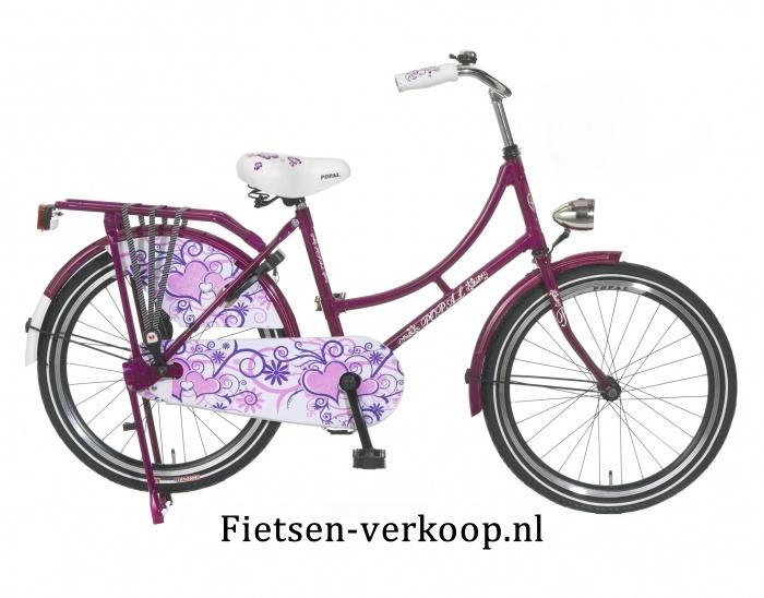 Omafiets Paars 22 Inch | bestel gemakkelijk online op Fietsen-verkoop.nl
