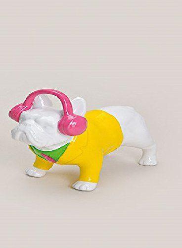 Spardose Hund Keramik Französische Bulldogge Sparkasse weiß pink Kopfhörer G. Wurm http://www.amazon.de/dp/B00TS6IF8Q/ref=cm_sw_r_pi_dp_FMIRvb09W5ZQZ