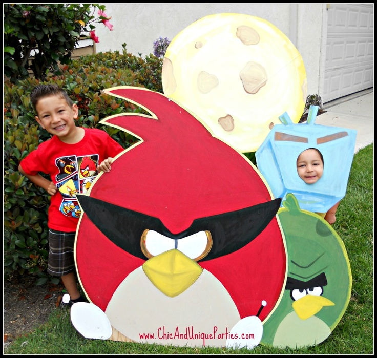 Space Angry Bird Picture Prop by Chic & Unique Parties