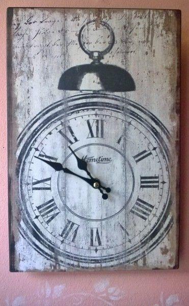 vintage kuchenuhr : Uhren - Wanduhr, K?chenuhr, Shabby-Chic, Vintage-Style - ein ...